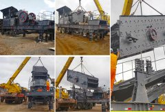 100tph Granite stone Mobile crushing line in Paraguay